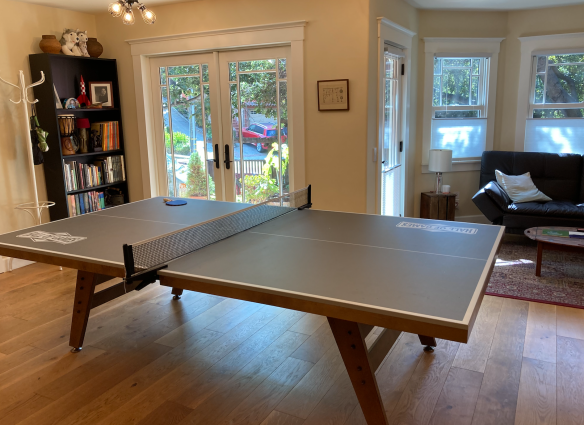 ping pong table in airbnb