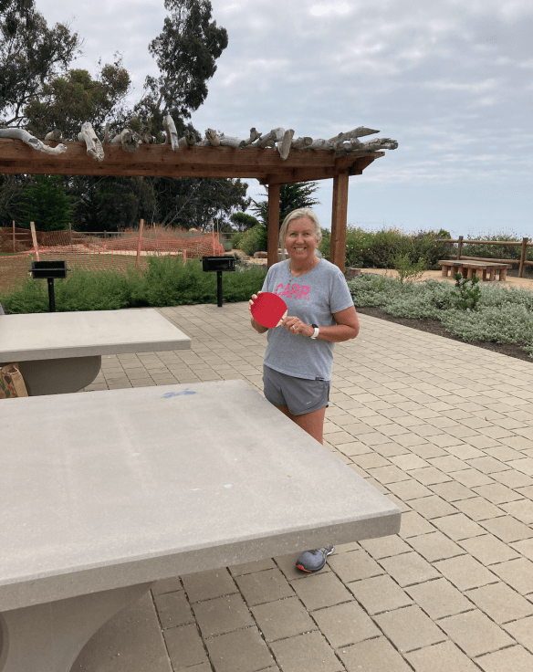 Summerland ping pong tables in a park