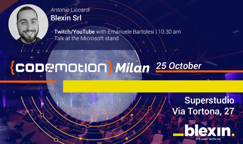 Live da Codemotion Milan 2019