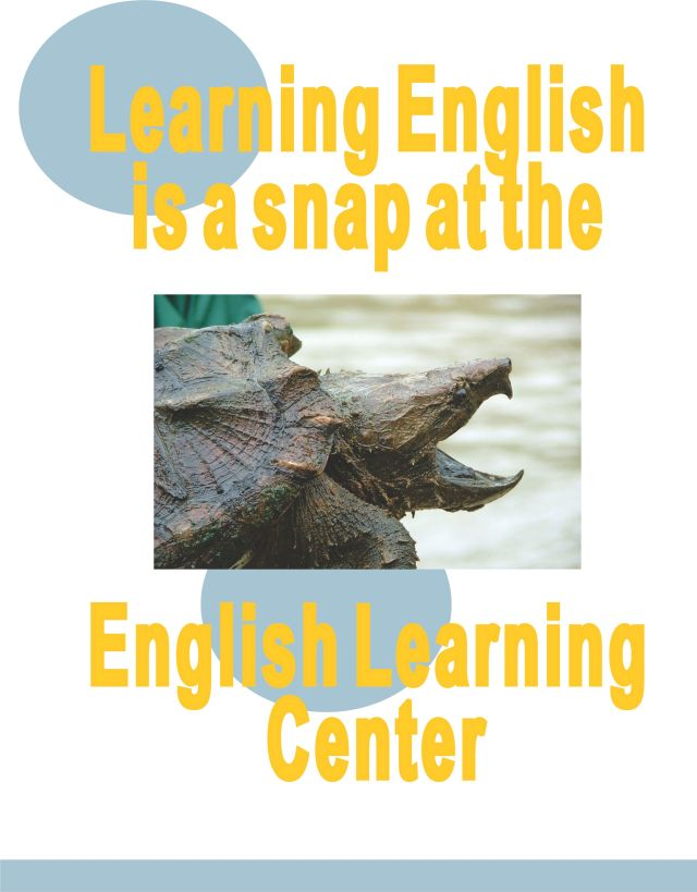English learning Center flyer