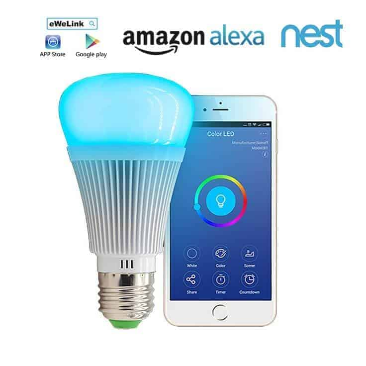 eWelink WiFi 2 4GHz Dimmable White + RGB LED Smart Light