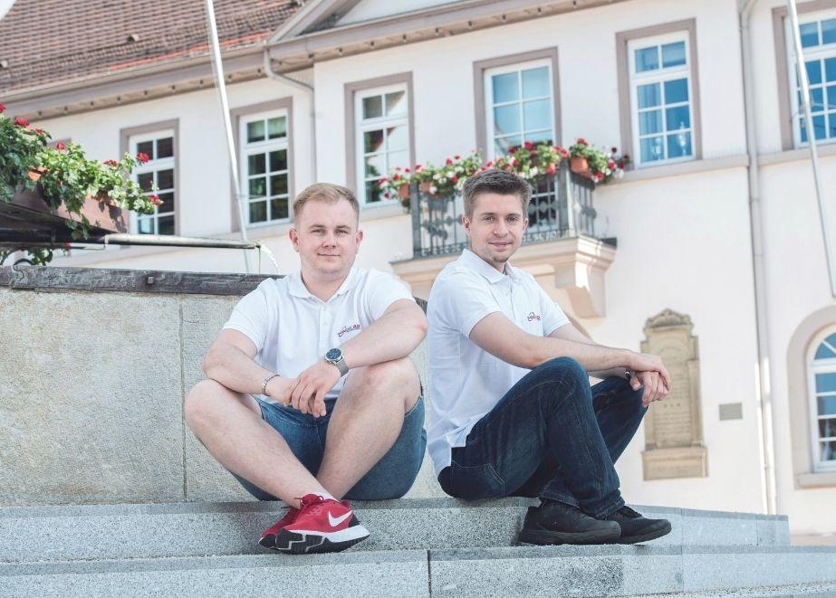 Philipp Grimm (links) und Simon Dummann (rechts)