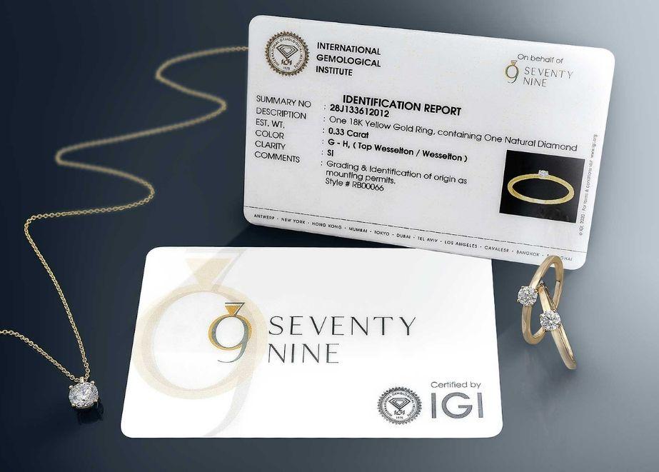 Das brillante Angebot überzeugt auf ganzer Linie. Alle Steingrößen von 0,10 - 1,00 ct Top-Wesselton-Brillanten sind IGI zertifiziert.