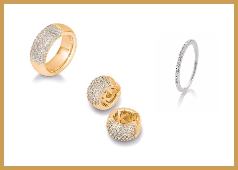 Zwei Tendenzen beim Goldschmuck: Die einen lieben den voluminösen Goldschmuck, gern hochlegiert, bei dem der Träger das Massive auf der Haut spüren möchte. (Luxury Breuning, 18 Karat Gelbgold)