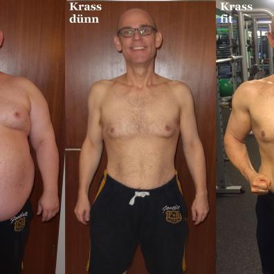 Bernd vor und nach dem halben Jahr mit Mach dich Krass