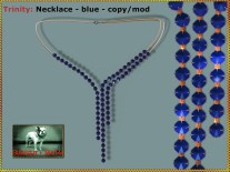 Bliensen - Trinity - Necklace - blue