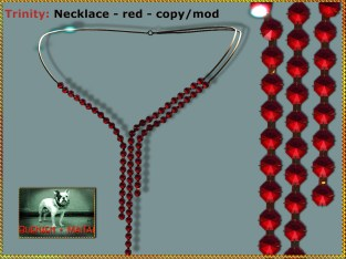 Bliensen - Trinity - Necklace - red