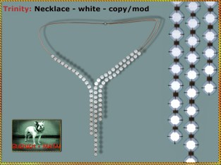 Bliensen - Trinity - Necklace - white