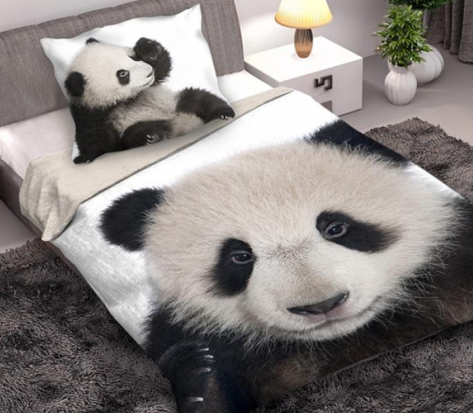 1 persoons dekbedovertrek pandabeer  Blije Kids
