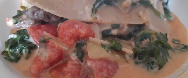 Superlekkere spinazie lasagne