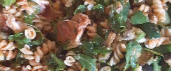 Pastasalade met aubergine