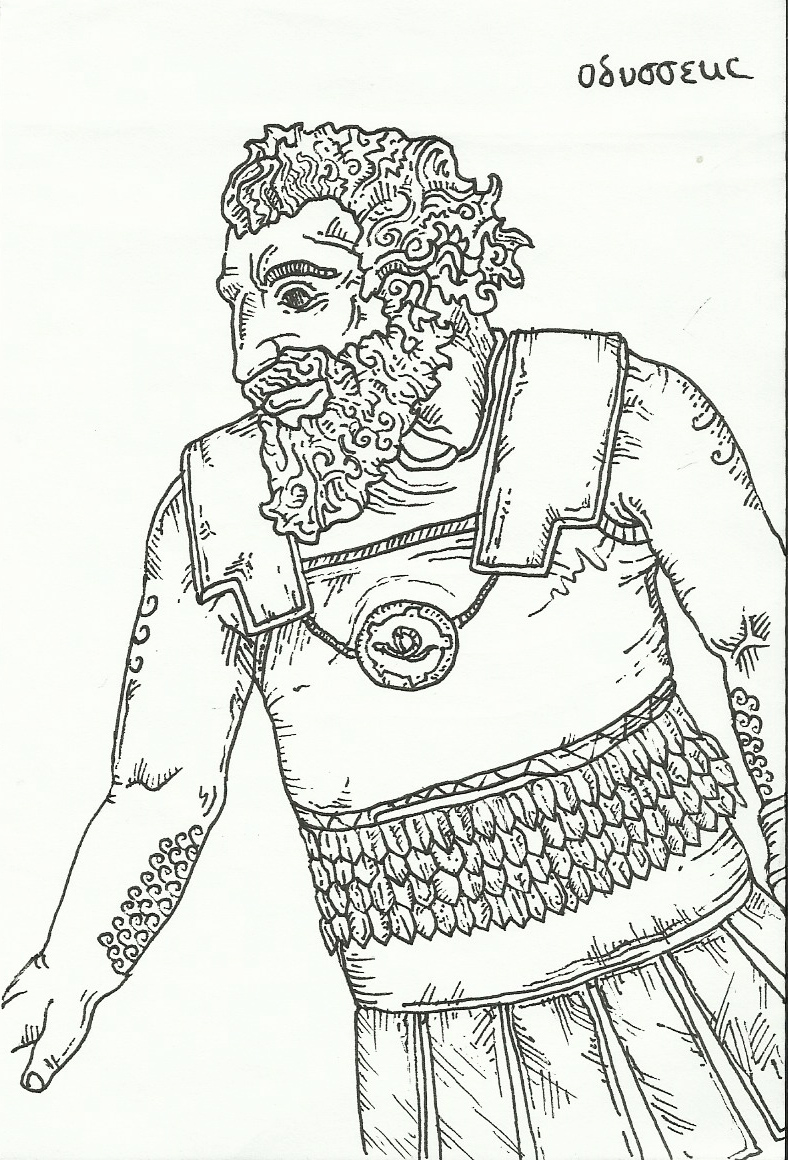 Free coloring pages of trojan horse story