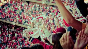 sports fan cheering