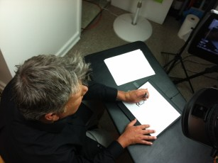 "June 18, 2013 - Tommy Edison filming the ""Can Blind People Draw?"" video"