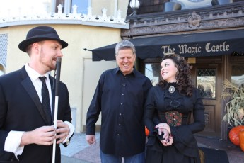 Nov. 11, 2013 - Misty Lee, Tommy Edison, & Chad Allen at the Magic Castle in Hollywood, CA (Photo by Kari Hendler)