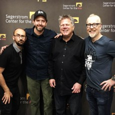 April 4, 2017 - Vsauce's Michael Stevens, Ben Churchill, Tommy Edison, and Adam Savage at Brain Candy Live