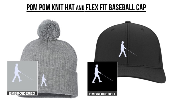 Pom Pom Knit Hat & Flex Fit Baseball Cap