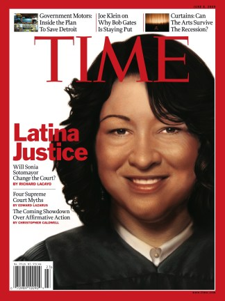Color on the cover the latina justice sonia sotomayor for Sonia sotomayor coloring page