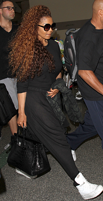 Janet Jackson is spotted as she arrives at LAX Airport in Los Angeles, Ca