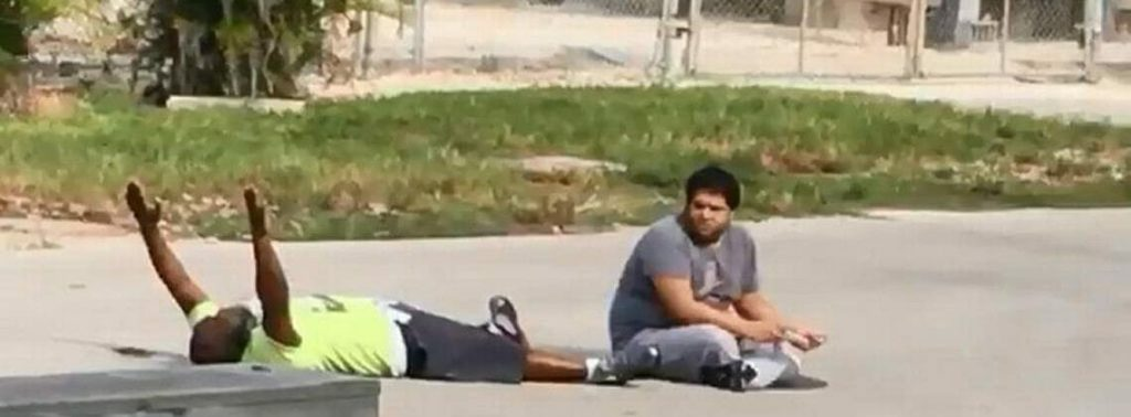 Charles Kinsey before being shot by officer Jonathan Aledda
