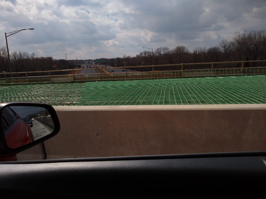 Photo of the rebar on the IL50 bridge