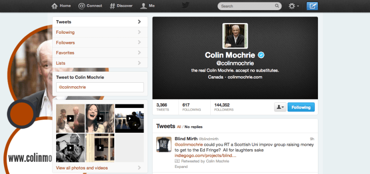 Casual retweet from Colin Mochrie