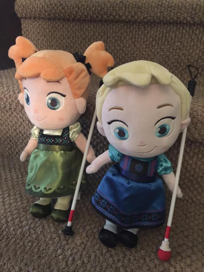 Blind Canes for Dolls Provided by Cute as a Daisy Shop