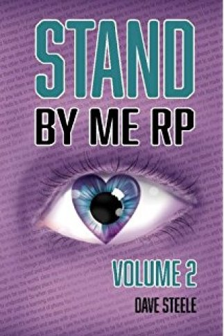 Stand By Me RP Volume II - Book Cover. Purple background with a single eye, the iris is in the shape of a heart.