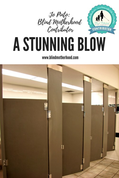 A photo of a line of bathroom stalls in a public restroom.