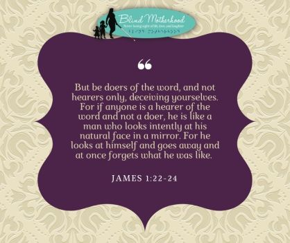 James Quote on plumb background.