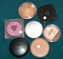 powders, blushes, bronzers