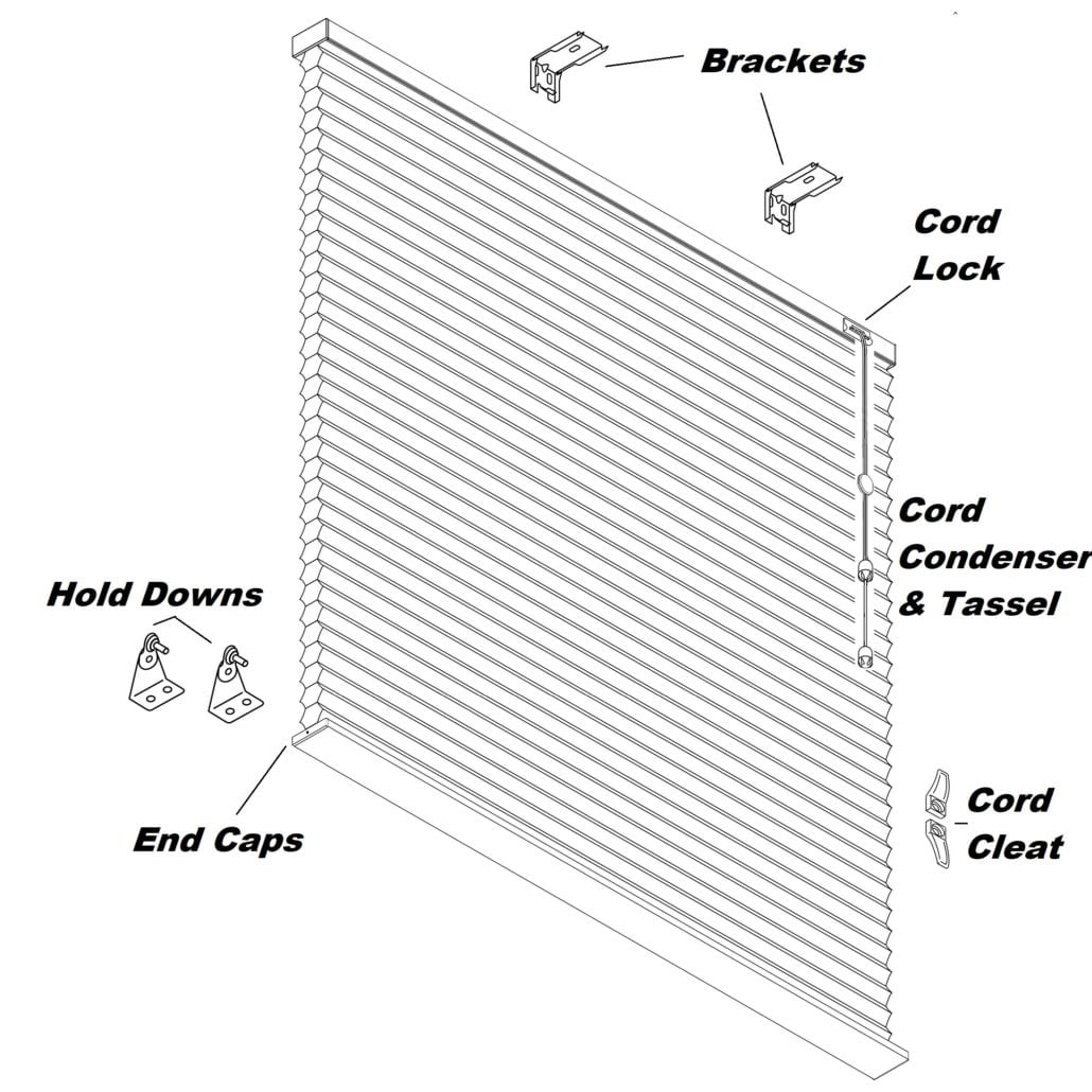 Cellular Amp Pleated Shade Repair Parts