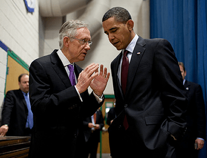 Harry Reid with President Obama