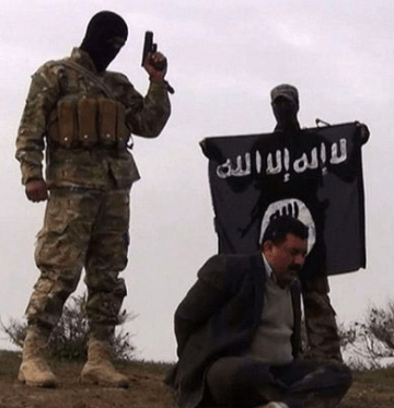 ISIS terrorist executing - yes, you guessed it! A fellow Muslim!