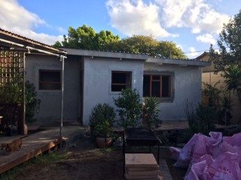 Roof installed and plastering underway
