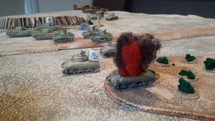 13 - Knocked out Sherman left flank