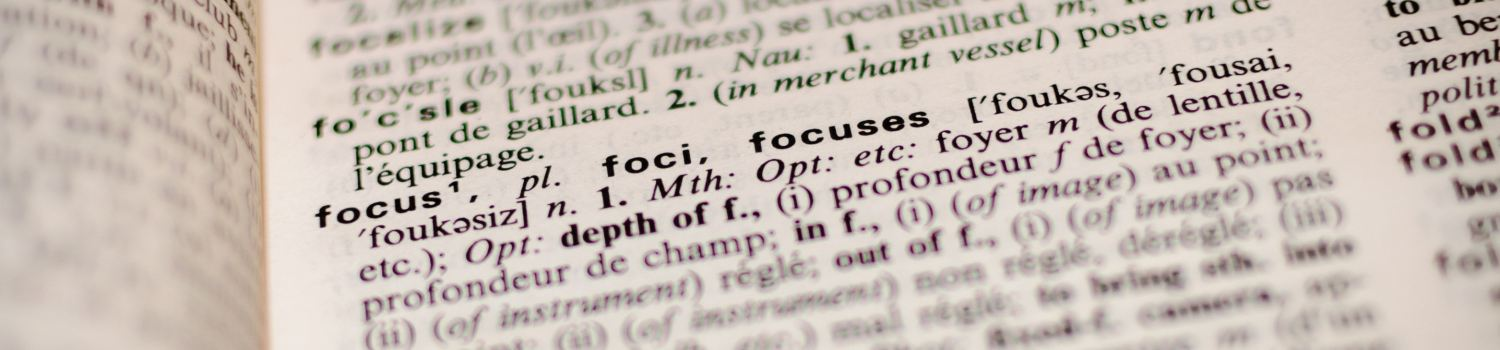 The one thing - Focus!