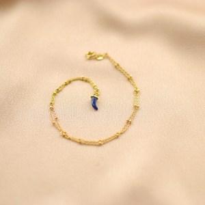 collar cadena colmillo azul