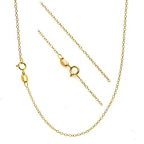 18k Gold Over Silver 1mm Thin Cable Chain Necklace  Ebay