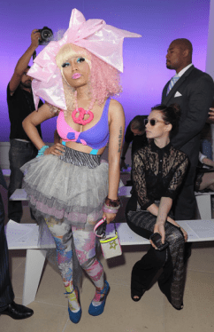 nicki minaj Prabal Gurung Front Row 2