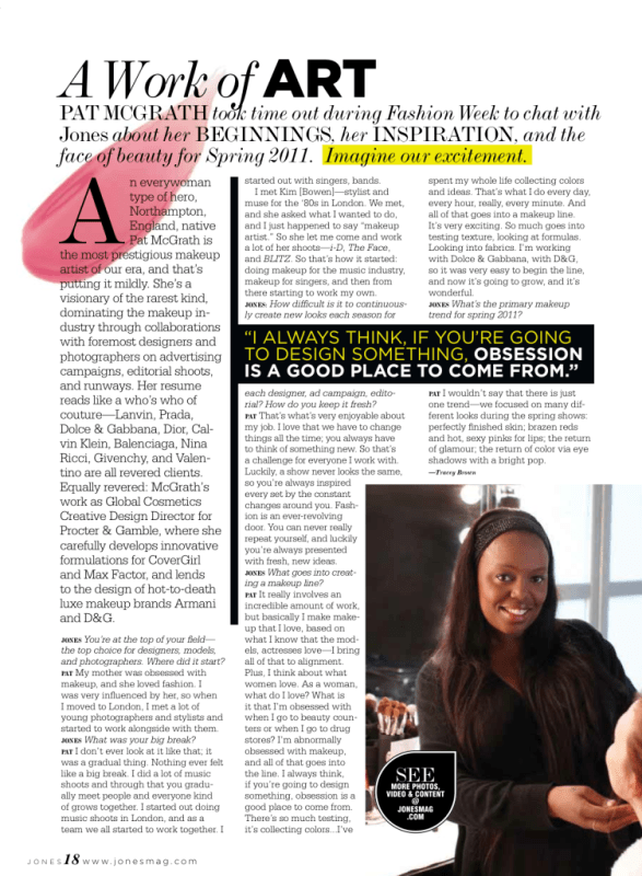 jones magazine pat mcgrath interview by tracey brown