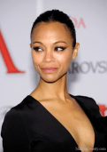 Actress Zoe Saldana attends the 2012 CFDA Fashion Awards at Alice Tully Hall on June 4, 2012 in New York City head shot 1
