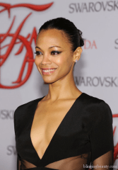 Actress Zoe Saldana attends the 2012 CFDA Fashion Awards at Alice Tully Hall on June 4, 2012 in New York City