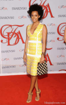 Solange Knowles attends the 2012 CFDA Fashion Awards at Alice Tully Hall on June 4, 2012 in New York City