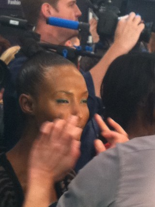fatima gettimg makeup done backstage fall fashion week 2012 tracy reese