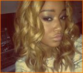 keke palmer blond hair twitter pic