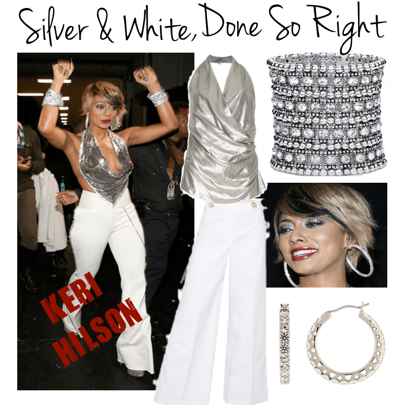 keri hilson silver and white pia