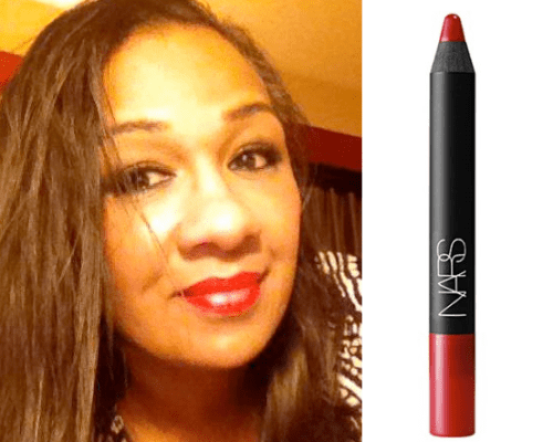 Tracey wearing NARS Dragon Girl Matte Velvet Pencil