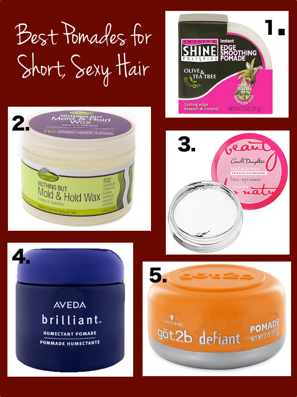 pomades for short sexy hair use