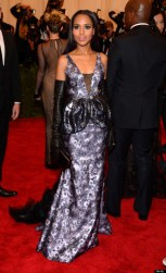 Kerry Washington Met Gala 2013 Wearing Vera Wang gown and makeup by Tarte Cosmetics